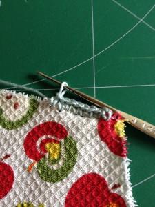 巾着袋 ハートのポケット付き作り方