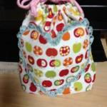 【巾着袋】可愛いハート型のポケット付き!作り方