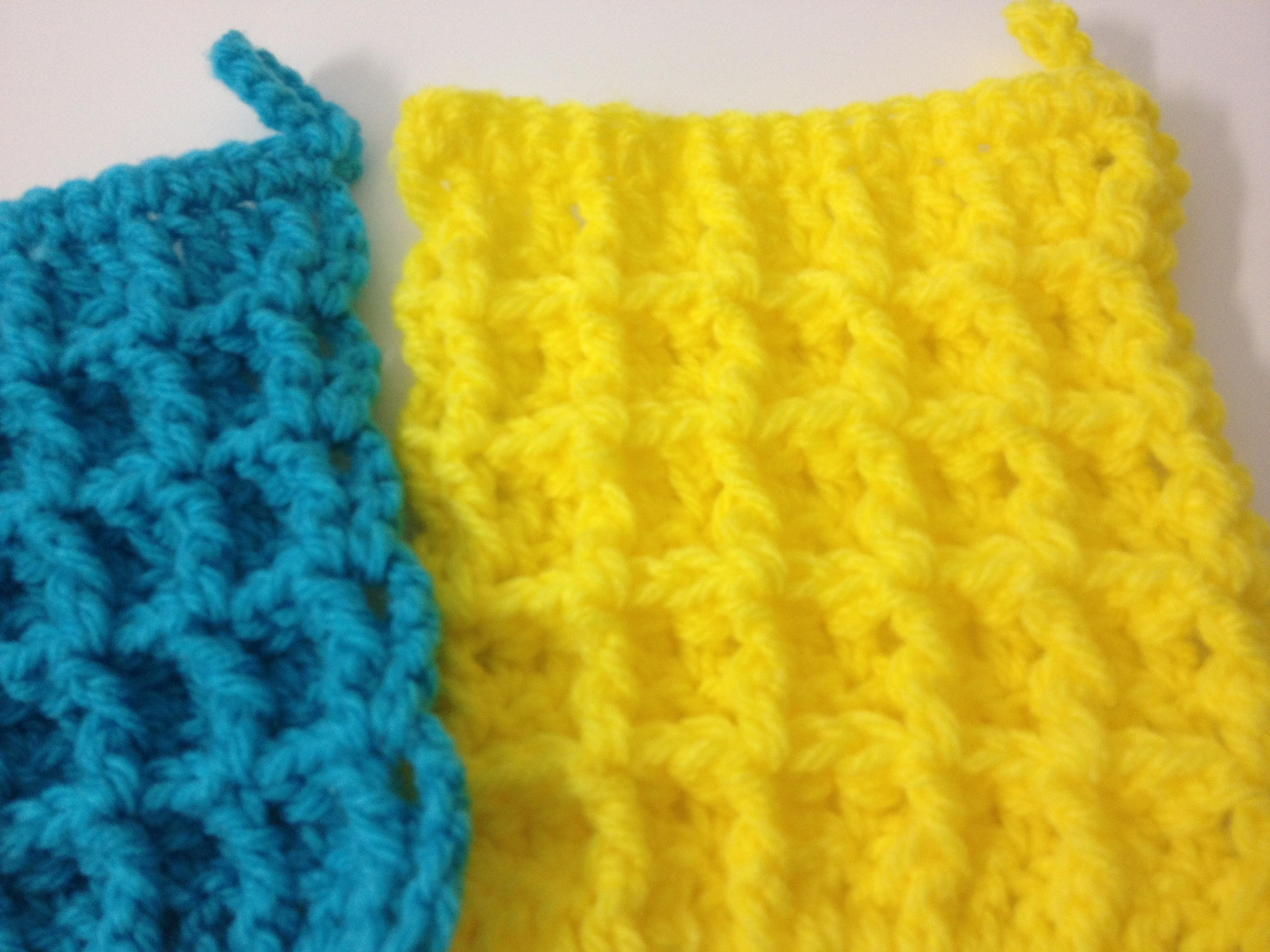指編みアクリルたわしの簡単な作り方は?北欧風のかわいい編み図も   Cuty